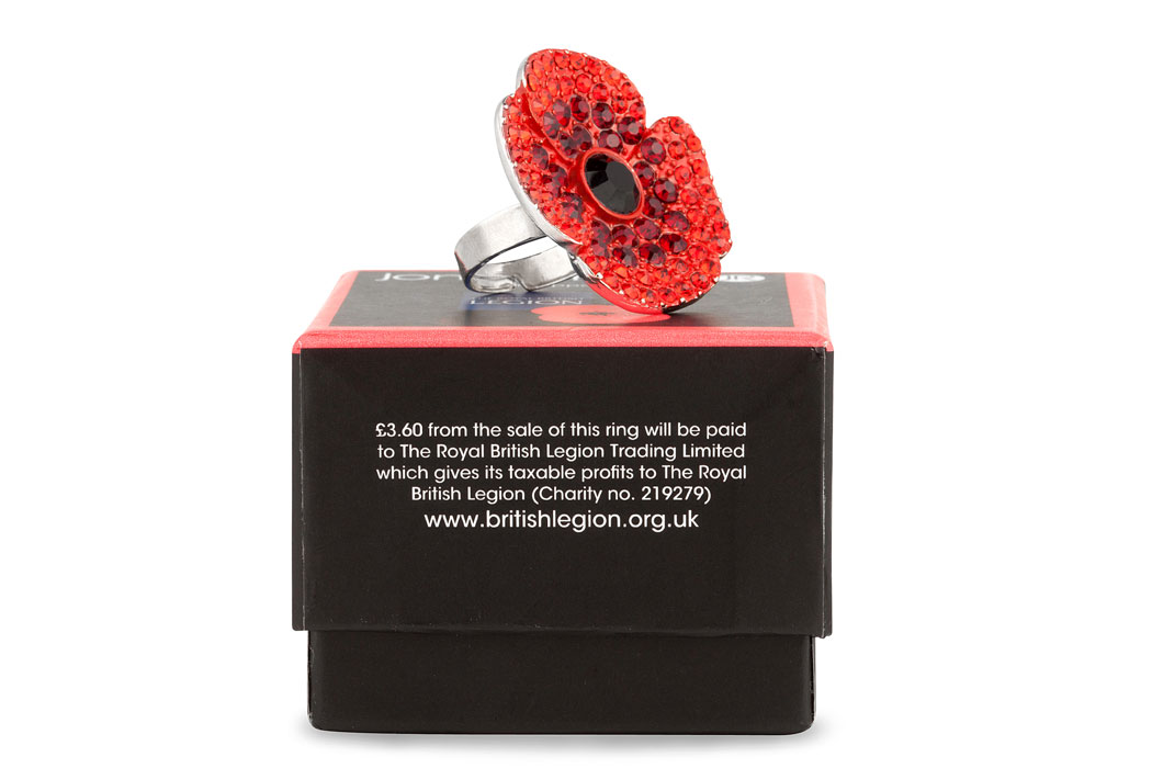 Jon Richard Poppy Ring