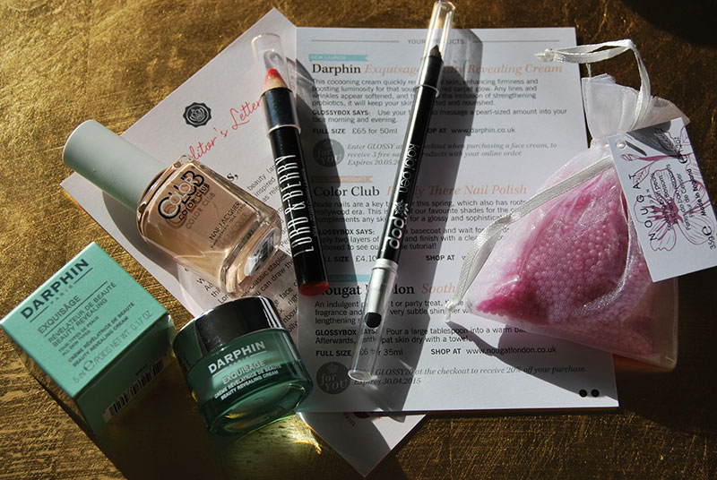 April 2015 Glossybox Review and Contents