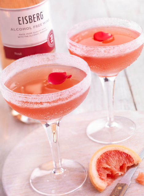 Eisberg - Kiss from a Rose mocktail