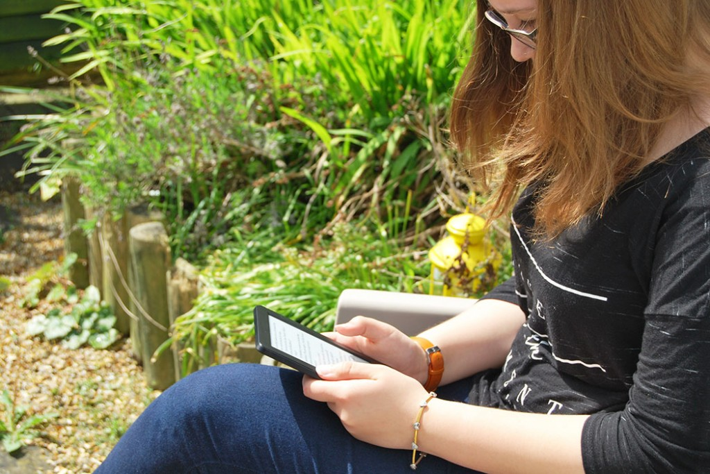 Using kindle in the garden