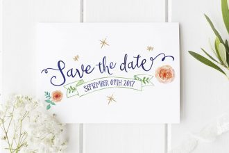 luxury save the date cards