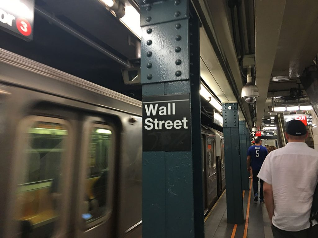 new york subway wall street picture