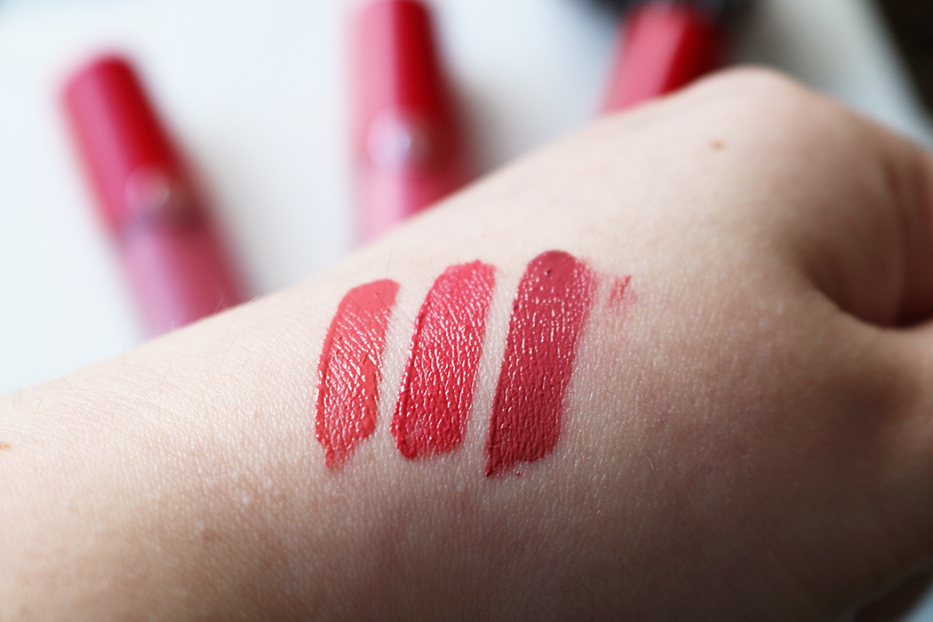 Giorgio Armani Lip Magnets Swatches