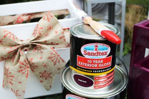 Festive Upcycling With Sandtex