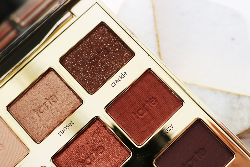 tarte palette closeup of shades