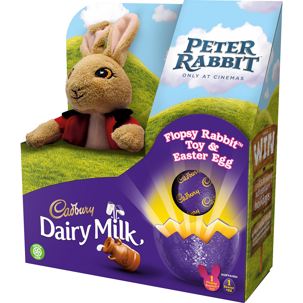 peter rabbit cadbury egg