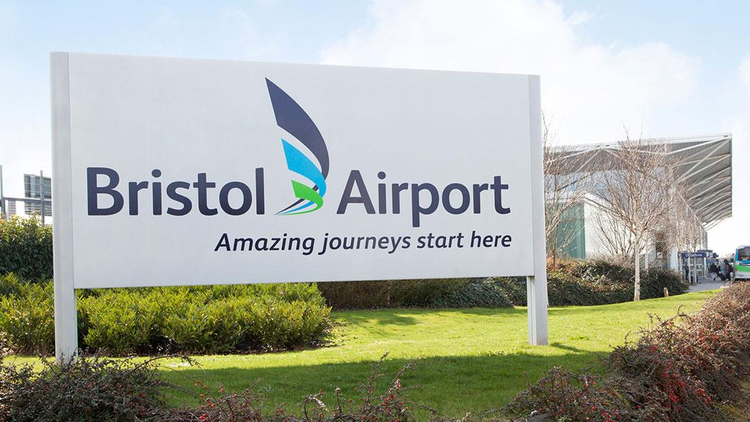 bristol airport sign