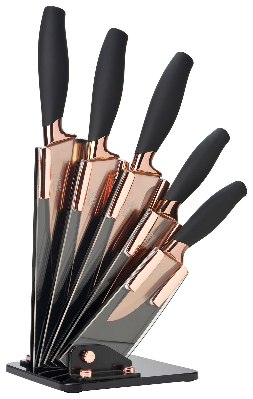 rose gold knife block