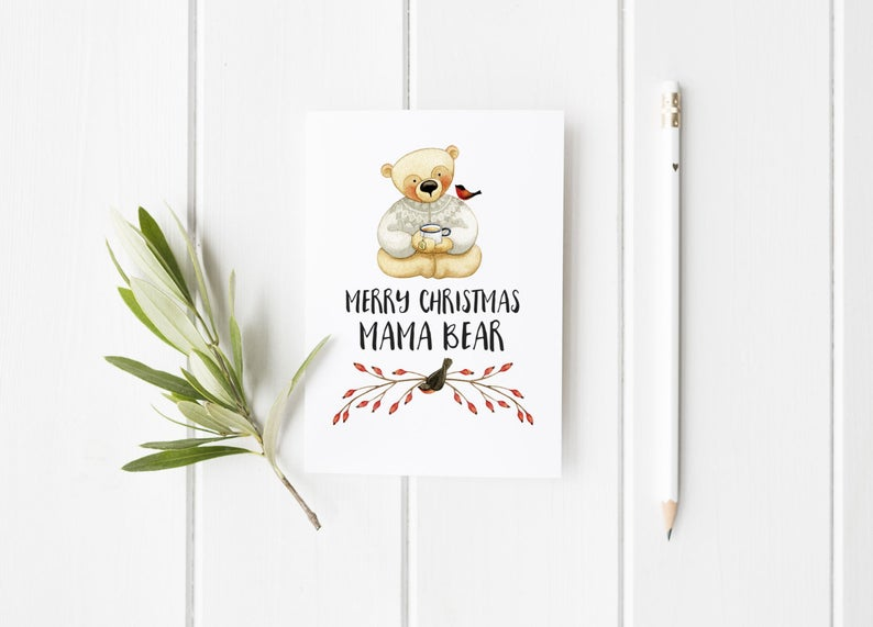 new mum christmas card