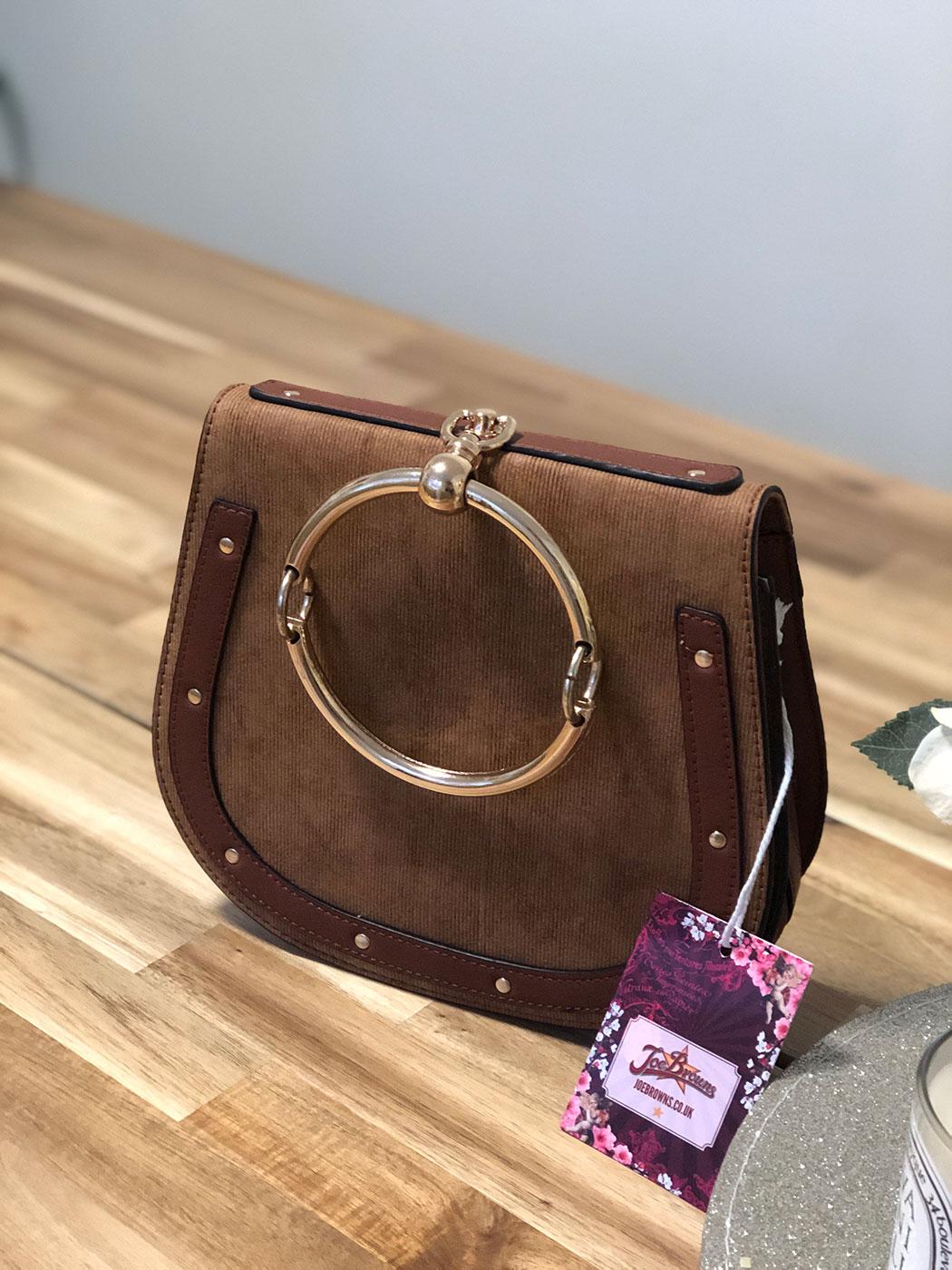 brown saddle bag designer dupe