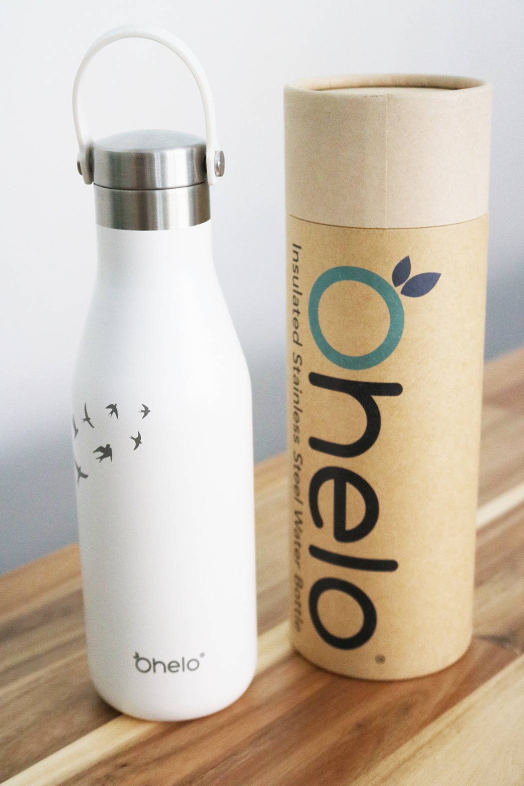 ohelo water bottle white