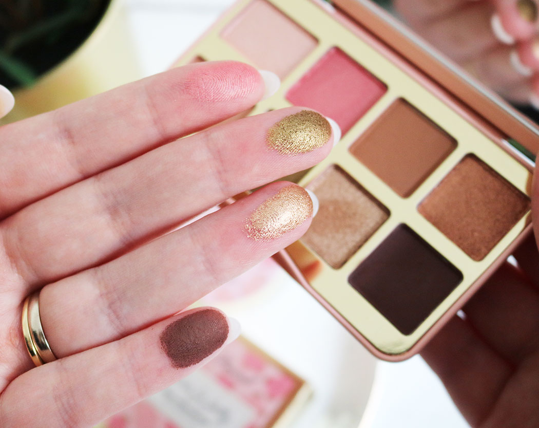 too faced shake your palm palms swatches
