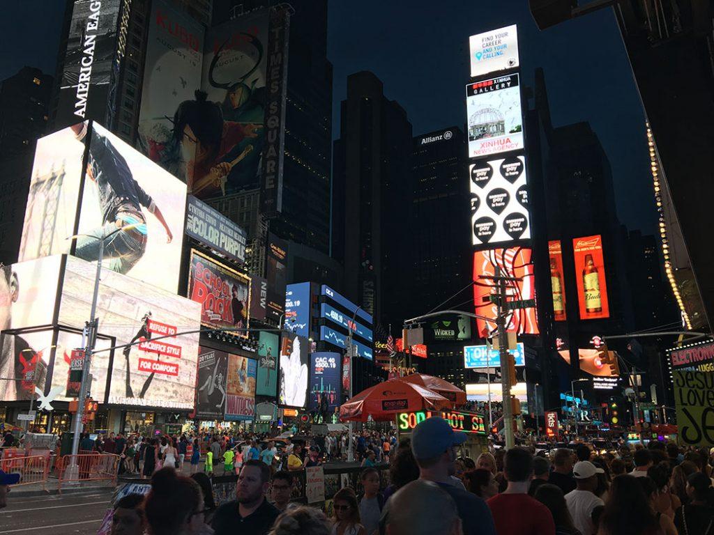 new york times square night