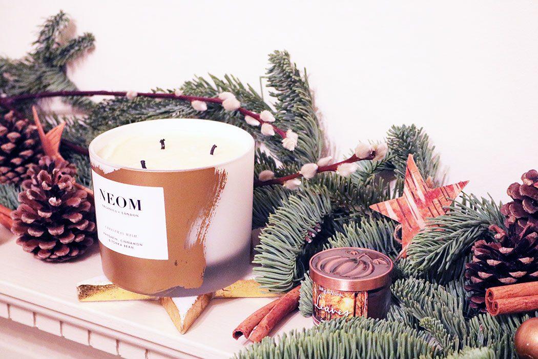 Christmas mantelpiece
